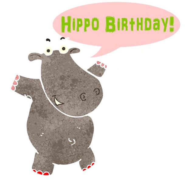 Personalised greetings cards with yummy treats sugarpoke hippo birthday bookmarktalkfo Image collections